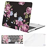 MOSISO MacBook Air 13 Case (A1369 & A1466, Older Version 2010-2017 Release), Plastic Pattern Hard Case & Keyboard Cover & Screen Protector Only Compatible MacBook Air 13 Inch, Peony