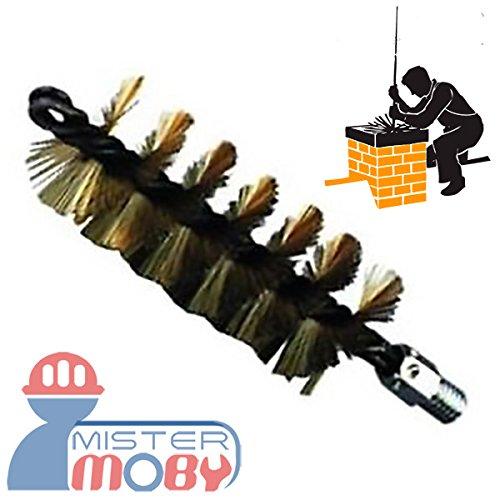 Mistermoby Scovolo in Acciaio per Pulizia Canna Fumaria Camino o Pulizia di Tubi e condotte Scovolo da 40 Millimetri