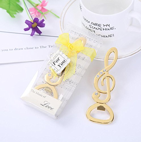100pcs Gold ''Symphony'' Music Note Bottle Opener For Wedding Party Favor by cute rabbit
