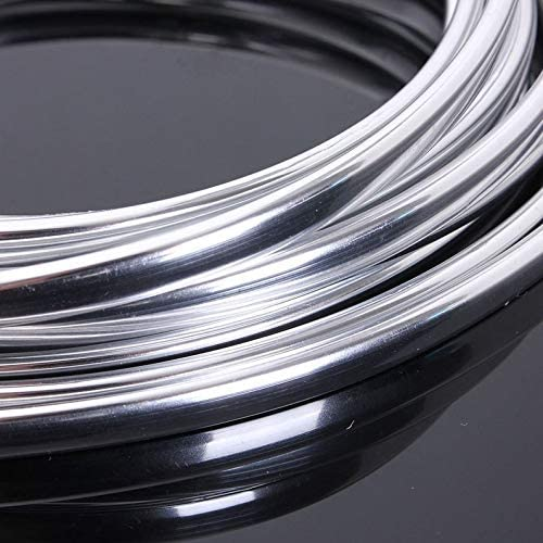 New 6M Chrome Molding Trim Strip Car Door bordo Scratch Guard Protector Cover Roll Roll