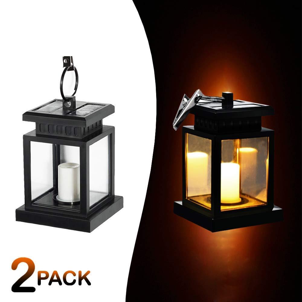 Meio Solar Mission Lantern, Hanging Solar Lantern,Solar Powered Waterproof Hanging Umbrella Lantern Candle Lights, Lighting & Decoration(2 Pack)