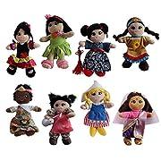 Soft Plush Around the World 8  Dolls, 8 Pack
