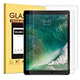 [2 PACK] iPad Pro 12.9 Screen Protector - SPARIN Multi-Touch Compatible Bubble-Free Anti-Scratch Tempered Glass Screen Protector For 12.9-Inch iPad Pro (2015 - 2017 Release)