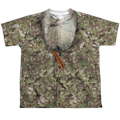 Duck Dynasty Camo Costume Youth or Boy's Front Only Sublimated T Shirt
