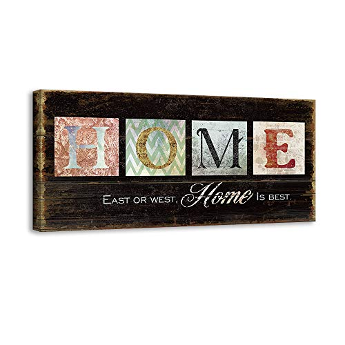 Kas Home Inspirational Motto Canvas Wall Art,Family Prints Signs Framed,Retro Artwork Decoration for Bedroom,Living Room & Home Wall Decor (8 x 16 inch, -