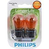 Philips 3157NA LongerLife Miniature Bulb, 2 Pack
