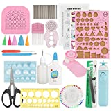 Paper Quilling DIY Kits, 24PCS Quilling Strips DIY Crafts Tool Set for Beginner's Craft Clipping Decoration