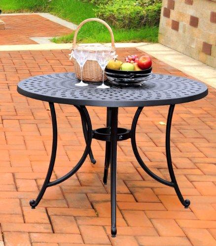 Crosley Furniture Sedona 42-inch Solid-Cast Aluminum Outdoor Dining Table – Black