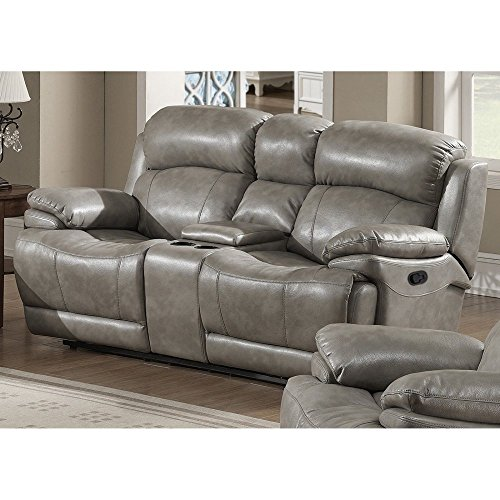 AC Pacific Estella Reclining Loveseat with Storage Console