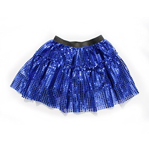 [Dreamdanceworks Women Running Skirt Race Tutu, Costume, Princess, Ballet, Dress-Up, 5K (S/M, Blue)] (Black Sparkly Dance Costumes)