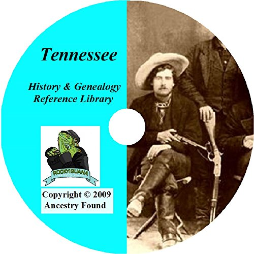 Tennessee History and Genealogy- 76 Books on DVD Ancestry, Records, Family Tree