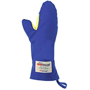 """Tucker Safety 06159 Products Tucker BurnGuard Protective Apparel, Conventional Style Oven Mitt, Nomex Fiber Removable Liner, Each, Medium, 15"""", Blue"""