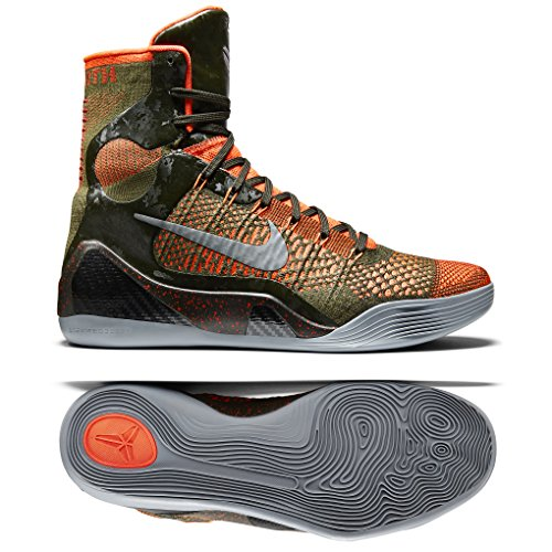 Nike Kobe IX 9 Elite Strategy 630847-303 Sequoia/Green/Silver Mens Basketball Shoes (size 11)