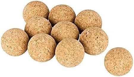Kork-Deko Conjunto de 10 Bolas de Corcho (Bolas de Kicker de Corcho), Corcho Natural, diámetro=3,5 cm | Naturales, Muy silenciosas (futbolín, Bola de Kicker, Bolas para futbolines, 10 Piezas): Amazon.es: