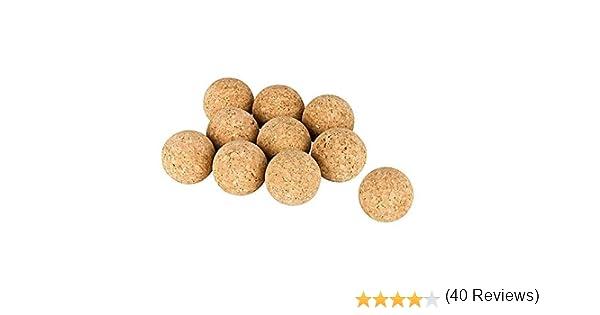 Kork-Deko Conjunto de 10 Bolas de Corcho (Bolas de Kicker de Corcho), Corcho Natural, diámetro=3,5 cm | Naturales, Muy silenciosas (futbolín, Bola de Kicker, Bolas ...