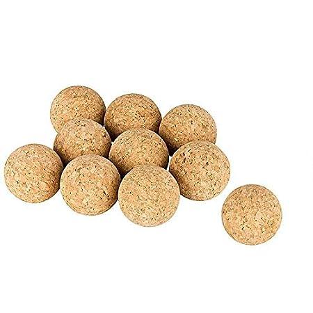 Kork-Deko Lot DE 10 balles de Baby-Foot en liège | 31-35 mm | très silencieuses | liège Naturel | balles de Baby-Foot en liège Naturel | Lot DE 10 balles de Baby-Foot (31 mm)