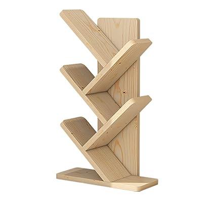 Simple Solid Wood Bookshelf Shelf Modern Minimalist Child Student Study Bedroom Small Bookcase Creative