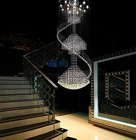 Beau Siljoy Large Modern Crystal Chandelier Lighting Rain Drop Ceiling Light For  Foyer Staircase Entryway D 31.5u0026quot