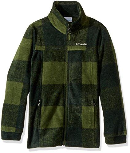 Columbia Big Boys' Zing Iii Fleece Jacket, Pesto Buffalo Plaid, Medium