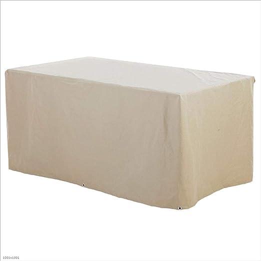 JIANFEI Funda Protectora Muebles Jardín Cubierta Exterior Impermeable Resistente Al Frío Fácil De Plegar Muebles Tela Oxford (Color : Beige, Tamaño : 185x85x105cm): Amazon.es: Jardín
