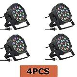 MegaPower (TM) 4PCS 4 PACK 18PCS 3 in 1 RGB PAR LED DMX512 Disco DJ Stage Lighting