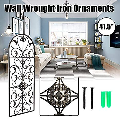 Amazon Com Wall Decor Wall Art Iron Ornament Retro Arch