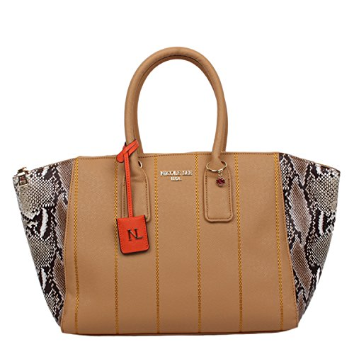 Snakeskin Print Tote - Nicole Lee Emerson Faux-Snakeskin Tote Bag (Camel)