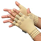 Medipaq Magnetic Anti-Arthritis Health Therapy Gloves 2X Pairs (Large) Beige