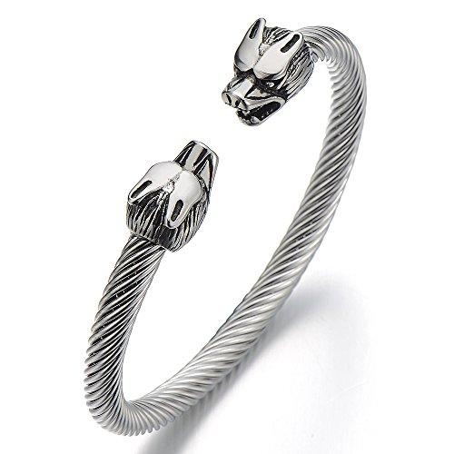 Bracelet Stainless Twisted Bangle Polished