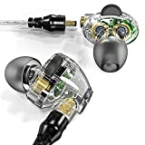 APIE Corded In-ear Headphones Earbuds Heavy Bass Noise Cancelling Earphones with Microphone