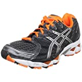 ASICS Men's GEL-Nimbus 12 Running Shoe,Charcoal/Lightning/Neon Orange,13 M US