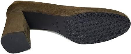 GENNIA - Viva - Salones Zapatos de Vestir para Mujer en Piel con Punta Redonda Tacon Ancho de 7 cm - Forro de Piel - Moda Tacones Stilettos Elegantes - Piel
