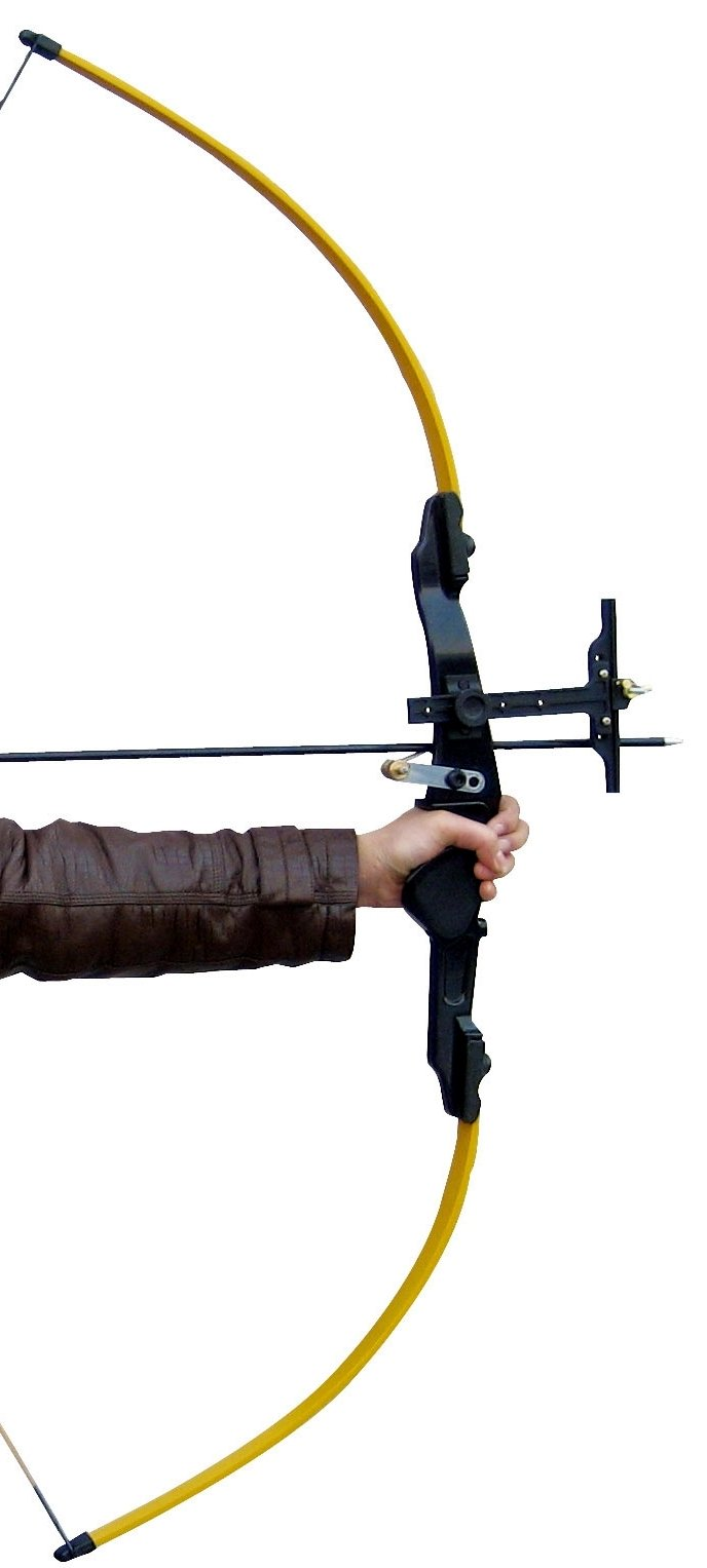 Deluxe, Full-Feature Shiny Black® 22-lb Pink Fiberglass Children / Youth Long Bow + Arrows Set for Girls (for right-handed archer) by Shiny Black ® (Image #4)