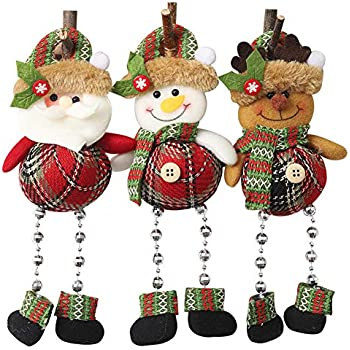 Baiman Christmas Ornaments for Home Christmas Tree Decorations, Design with Santa Claus, Snowman, Reindeer