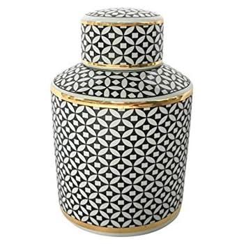 Sagebrook Home 13170-03 Ceramic Jar, 5.5