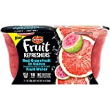 Del Monte 2 Piece Refreshers Snack Cups, Red Grapefruit in Guava Fruit Water, 6 Count