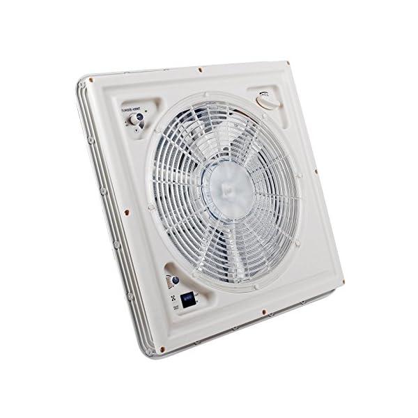 51ZCwckQt5L Fiamma Turbo Vent Crystal Kurbeldachhaube Polar Control mit Thermostat 40 x 40 für Wohnwagen oder Wohnmobil