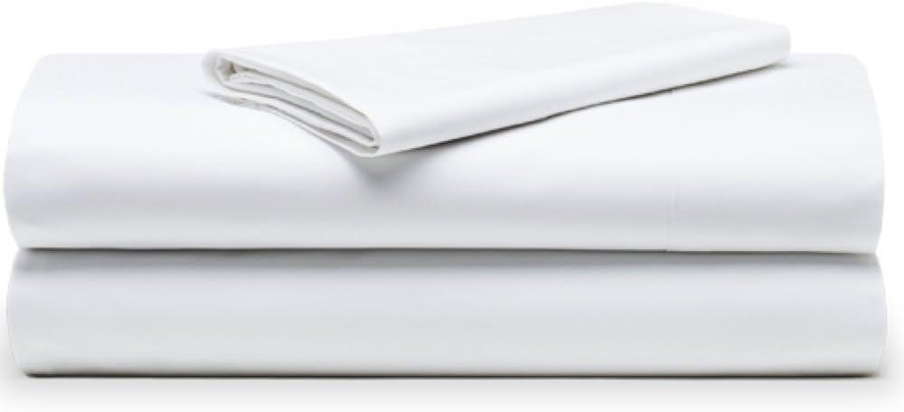 The White Basics - Cadaques - Juego de Sabanas Blancas Percal 200 Hilos 100% Algodon Peinado Cama 135 cm.: Amazon.es: Hogar