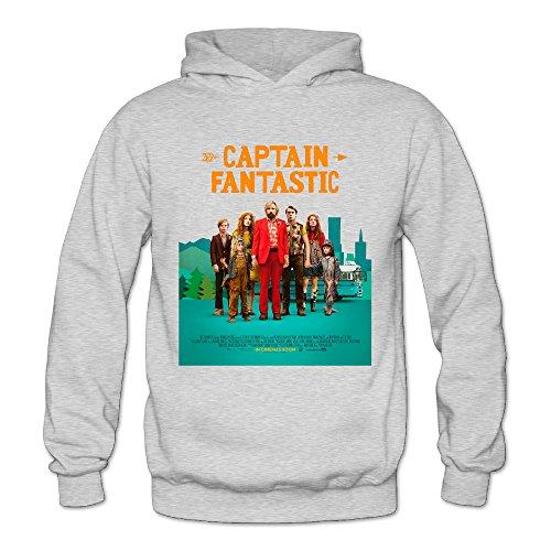 Captain Fantastic 2016 Women's Long Sleeve Hooded Ash US Size S]()