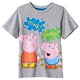 Peppa Pig George Toddler Boys Short Sleeve Tee (2T, Grey Oink Jump)