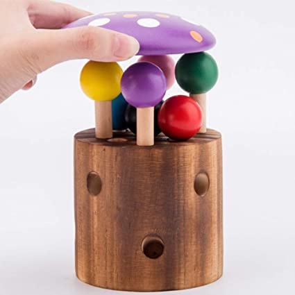 Funny Infant Developmental Baby Kid Toy Puzzle Game Worm Wooden