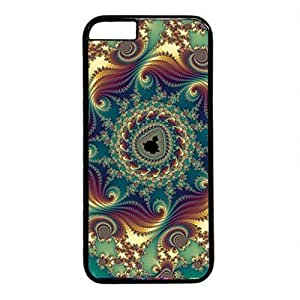 Abstract Pattern Persalized Cover Case for Apple iPhone 6 Black