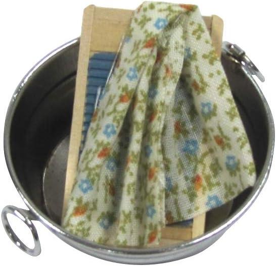 TG,LLC Treasure Gurus 1:12 Scale Wash Tub Dollhouse Accessory Miniature Laundry Basin Fairy Garden Decor