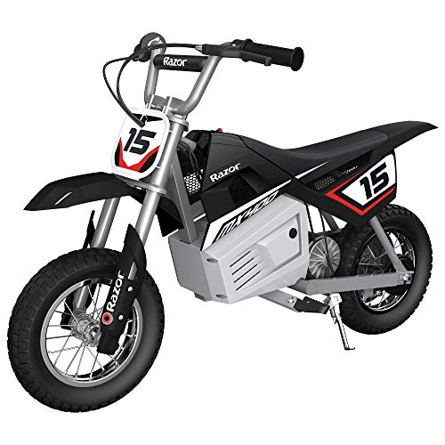 Razor MX400 Dirt Rocket Ride On 24V Electric Toy Motocross Motorcycle Dirt Bike, Speeds up to 14 MPH, Black