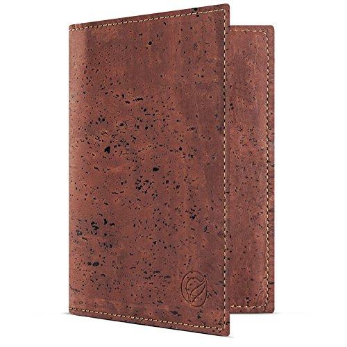 - Corkor Passport Wallet for Men & Woman | RFID Blocking Vegan Cork Red Cork