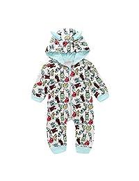 Vinjeely Infant Baby Girls Boys Cartoon 3D Ear Hooded Romper Playsuit Fall
