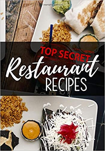 Amazon com: Top Secret Restaurant Recipes: Blank Recipe Book To