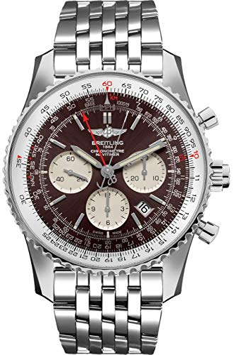 Breitling Navitimer Rattrapante Brown Dial Chronograph Steel Watch - AB031021/Q615-453A