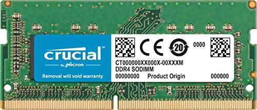 Crucial 16GB Single DDR4 2666 MT/s (PC4-21300) CL19 DR x8 SODIMM 260-Pin for Mac – CT16G4S266M