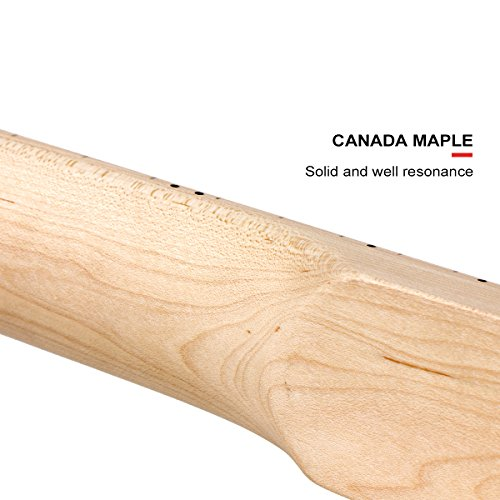 2pcs Maple Guitar Neck 22 Fret Full Fretjob W/nut 42mm by Kmise (Image #6)